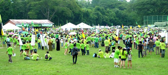 An estimated 8,000 to 10,000 people attended the peaceful rally against the gold mine.