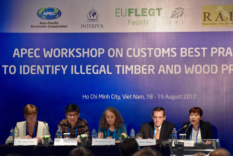 APEC customs officials learn best practices for detecting illegal timber products